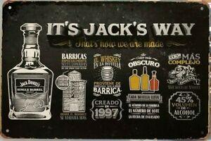 JACK DANIELS Garage Rustic Look Vintage Tin Signs Man Cave, Shed & Bar SIGN