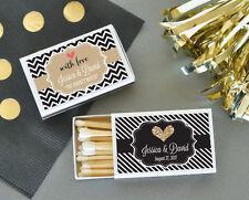 50 Personalized Wedding Theme Match Boxes Bridal Shower Wedding Favors