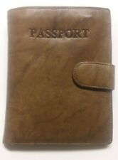 """Edward Harvey """"Marbled"""" Soft Brown Leather US Passport Cover Wallet."""