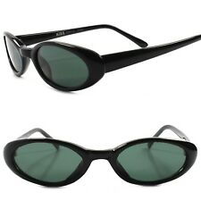 Old stock Classic Genuine Vintage 80s 90s Fashion Black Small Cat Eye Sunglasses