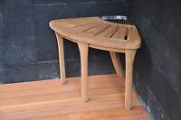 Grade-A Teak Bath Corner Seat Shower Bench Stool W/ Basket Spa Outdoor Garden NW