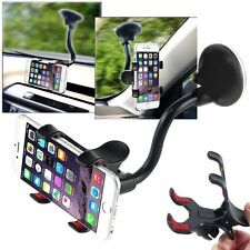 360°Rotating Car Windshield Mount Holder Stand Bracket For Smart Cell Phone Gps