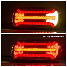 2x LED-Rückleuchten dynamische Blinker 6 Funktionen Rücklicht Anhänger Bajonett