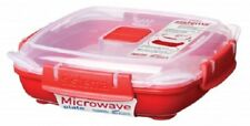 Sistema 440ml Small Square Plate Removable Steaming Tray Microwavable Lunch Box