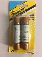 2 Pack ~ Cooper Bussmann / Buss 40 Amp 250V One-Time Cartridge Fuse BP/NON-40