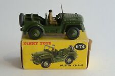 Dinky Toys No 674 Austin Champ - Meccano Ltd - Made In England - Boxed