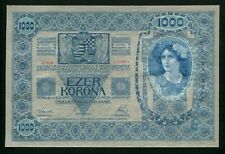 u858 AUSTRIA HUNGARY 1000 KRONEN 1902 P#8.b BANKNOTE WITHOUT OVERPRINT UNC