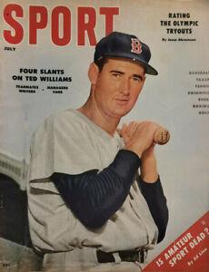 Sport July 1956 Vtg Magazine Boston Red Sox Ted Williams - Olympics - NoML VG