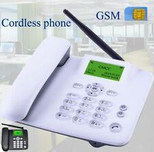 Cordless GSM 900 1800 MHz Support SIM Card Fixed Phone black Landline