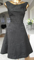 MONSOON BLACK JAQUARD JAYA 50's COCKTAIL XMAS PARTY SPARKLE EVENING DRESS 14