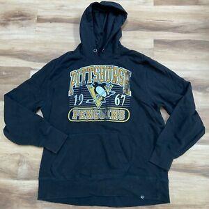Pittsburgh Penguins 47 Brand Hoodie Sweatshirt Mens XXL 2XL Long Sleeve