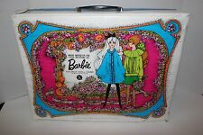 Vintage 1968 World Of Barbie Vinyl Carrying Case Clothing Wardrobe Suitcase