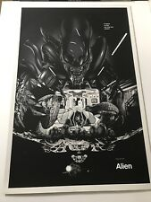 Alien - Martin Ansin Screen Print Poster Signed Numbered Mondo Sold Out Aliens