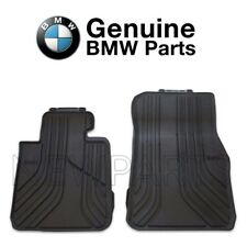 For BMW F22 2-Series Black Front Rubber Floor Mats All Weather 2pcs Genuine