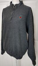 PETER MILLAR Womens Gray Fleece Jacket Coat Sz Large 1/4 Zip High Neck Pullover