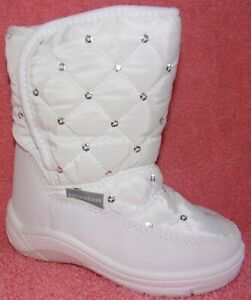 NEW ADORABABY WHITE QUILTED TODDLER GIRLS WINTER BOOTS 7 M