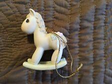 Precious Moments Rocking Horse Ornament-1986-102474. No box.