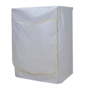 Oxford Cloth Protective Cover Washing Machine Dryer Case Gold Strap XL