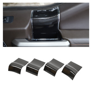 4x Interior Door Handle Panel Trim Decor Cover for Ford F150 2015+ Carbon Fiber