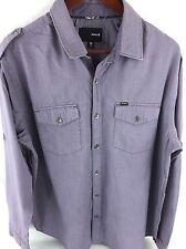 Hurley Mens XL Light Purple Long Sleeve Button Front G-46