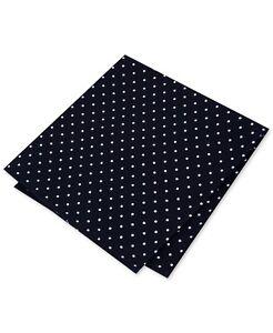 $125 Tommy Hilfiger Men'S Black White Dot Handkerchief Classic Pocket Square