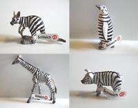 Schleich 82802-82805 Tiere im Zebra-Muster 75 Jahre Jubiläum Sonderedition NEU
