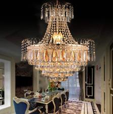 Luxury Crystal Chandelier Modern Gold Ceiling Lighting Pendant Fixture Dia 19.7