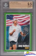 2001 Netpro #1 Andy Roddick ROOKIE BGS 9.5 GEM MINT