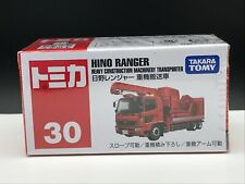 Tomica #30 HINO RANGER Heavy Construction Machinery Transporter Toy Vehicle NEW