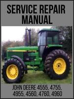 John Deere 4555 4755 4955 4560 4760 4960 Tractor Operation Test Manual TM1461