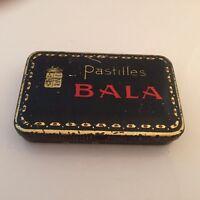 ANCIENNE BOITE PHARMACIE PASTILLES BALA (LABORATOIRE BRICHARD BAR LE DUC)