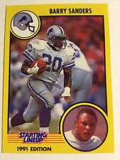 Barry Sanders 1991 Starting Lineup Card - Detroit Lions
