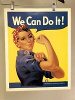 1943 We Can Do It! - Rosie the Riveter Vintage Style WW2 Poster - 16x20