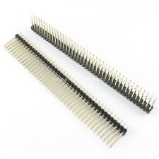 10Pcs 2.54mm Pitch 2x40 Pin 80 Pin Double Row Straight Male Header Strip L= 17mm