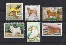 Dog Art Body Study Portrait Postage Stamp Collection Chinese Shar Pei 6 x Mnh