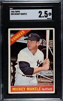 1966 Topps Mickey Mantle #50 SGC 2.5 Good+ Baseball Card