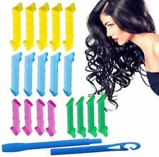 Hair Rollers Sleep In Self Grip Curlers 18 Pcs/Set No Heat Large Styling Beauty