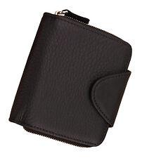 Men's Genuine Leather Zip Around Pocket wallet snap coin pocket card case