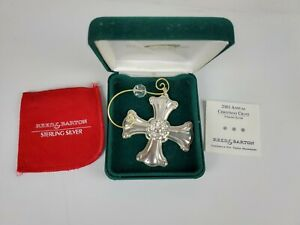 New Reed & Barton 2001 Christmas Cross Sterling Silver Ornament 31st Edition