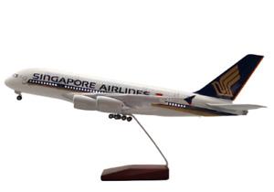 Singapore A380  Large Plane Model  ✈ 1:160 Airplane 45cm LED Cab Lights