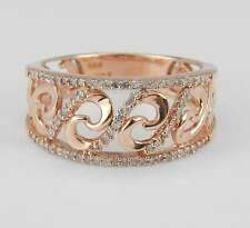 Rose Gold Diamond Anniversary Ring Band