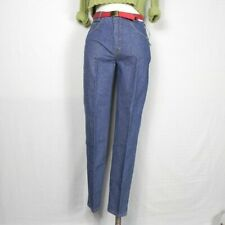 Vintage Brittania High Waist Jeans Tapered Leg Check Patterned New Old Stock 14
