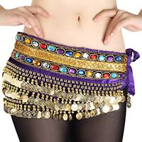 HOT! Beautiful NEW Belly Dance dancing Waist Chain Hip Scarf gemstone Costume