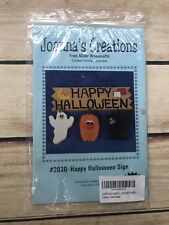 Happy Halloween Sign #2030 Miller Woodcrafts Joanna's Creations Wood Paint Instr