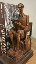 Cervantes' Don Quixote Sancho Panza Wooden Carved Book ends by Kreisler of Spain
