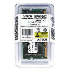 512MB SODIMM Gateway M320E M320S M320X M320X 1008221 M320X 2900607 Ram Memory