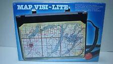 Vintage Map Visi-Lite 12 volt Light Up Car Map Viewer Holder Clip Accessory NWB