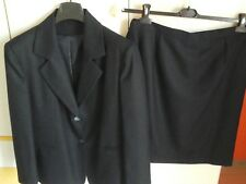 TAILLEUR Calibrato Gonna/BIG SIZE Jacket + Skirt tg 47 Lana/Wool MADE IN ITALY