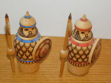 vintage MADE in USSR GUERRIER soldat RUSSIE russian wooden Doll Figurine STATUE