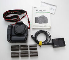 Canon EOS 10D Camera Body w/ BG ED3 Grip 6 BP-511 Batteries Charger Manual J1073